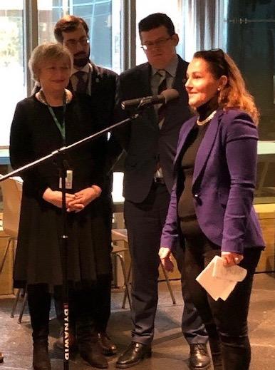 Anne Horn i polsk høyesterett, der hun talte på vegne av norske dommere (Foto: privat)
