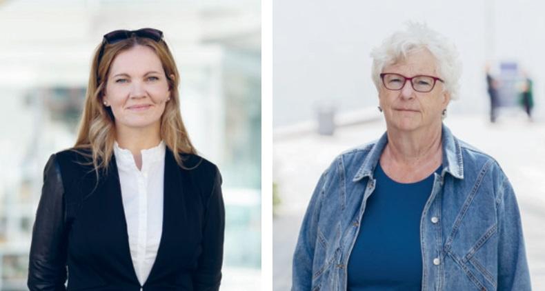 Advokat Maria Hessen Jacobsen og psykiater Randi Rosenqvist mottar Rettssikkerhetsprisen. Foto: Eivind Senneset / Thomas Haugersveen